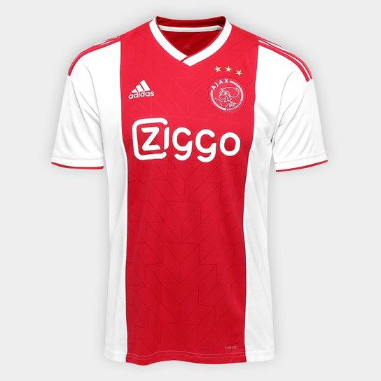 8ee59fd63532e Camisa Ajax Home 2018 s n° - Torcedor Adidas Masculina - Branco+Vermelho