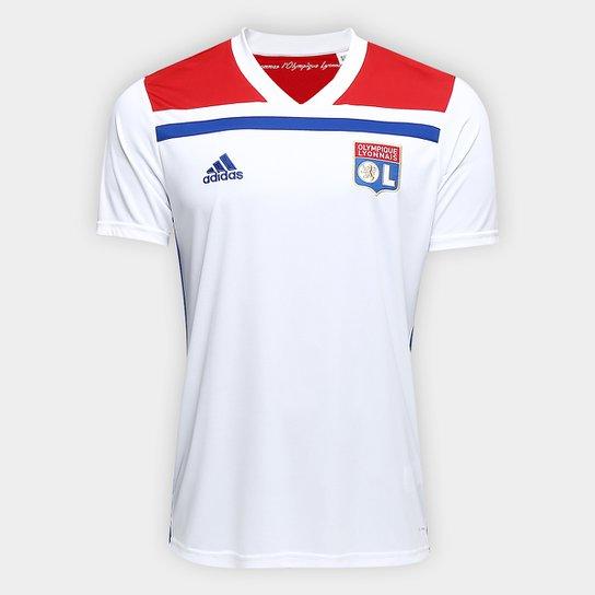 bf6e2ab780 Camisa Lyon Home 2018 s/n° - Torcedor Adidas Masculina - Branco+Vermelho