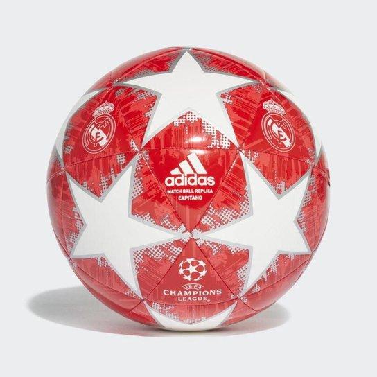 Bola de Futebol Campo Real Madrid Adidas Finale 18 UCL - Branco+Vermelho 7417ace94756f