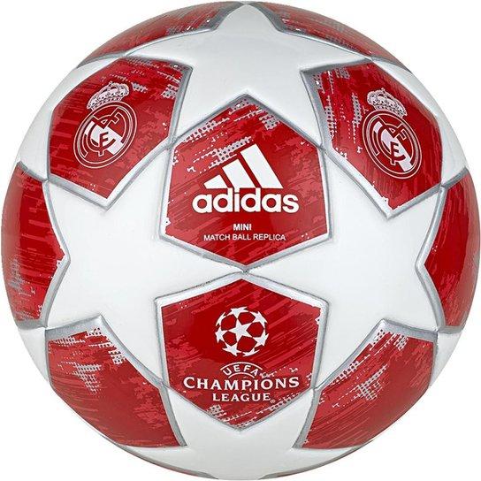 ... Mini Bola de Futebol Real Madrid Adidas Finale 18 - Branco+Vermelho  100% quality ... 1103df3db9267