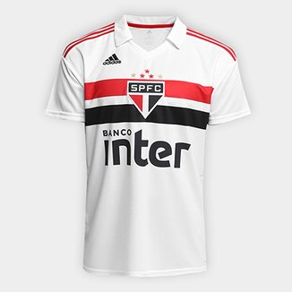 38bbbdb331 Camisa São Paulo I 2018 s n° Torcedor Adidas Masculina