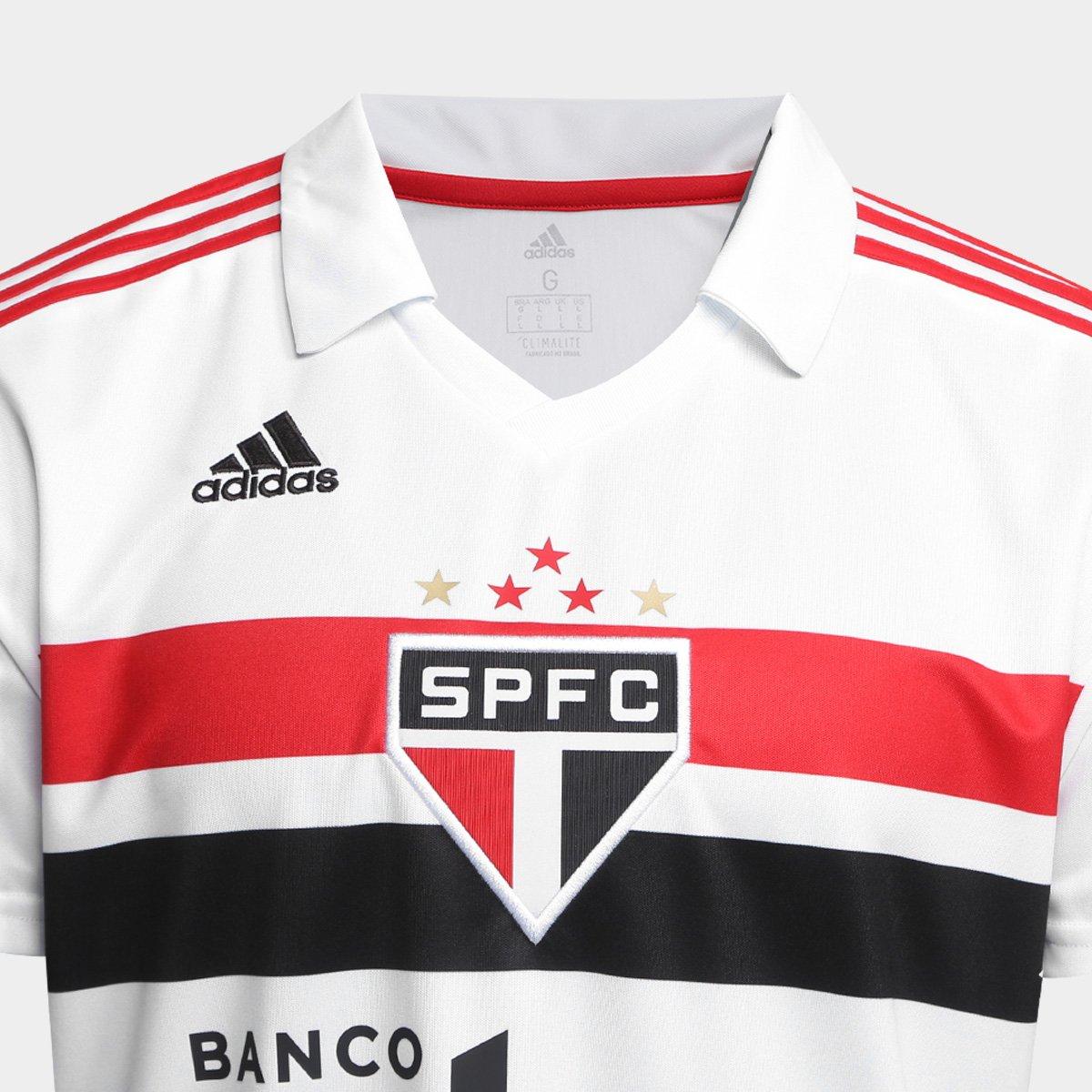 Camisa São Paulo I 2018 s/n° Torcedor Adidas Masculina - 2