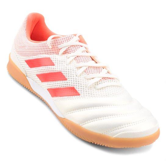 Chuteira Futsal Adidas Copa 19 3 IN - Branco e Vermelho - Compre ... c751911e8a18b