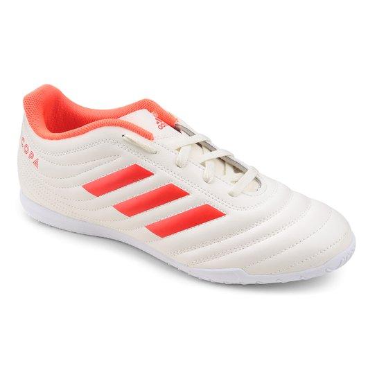 c951e984fa Chuteira Futsal Adidas Copa 19 4 IN - Branco e Vermelho