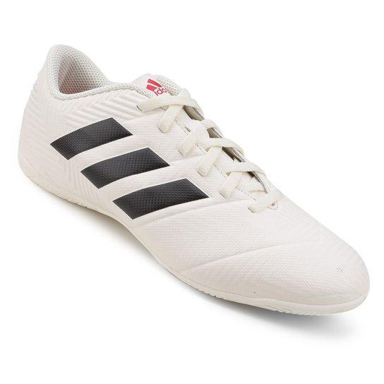Chuteira Futsal Adidas Nemeziz 18 4 In - Branco e Vermelho - Compre ... b8671fb409d46