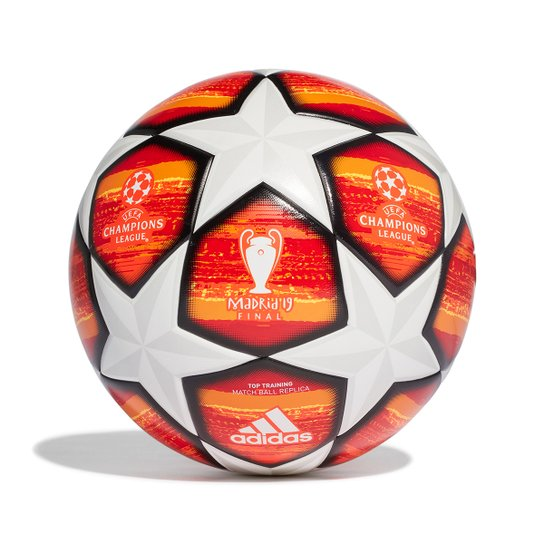 5cf6ddbc69230 Bola de Futebol Campo Adidas Uefa Champions League Finale 19 Replique Top  Train - Branco+