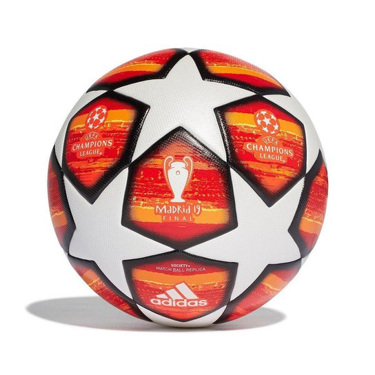 73422d765e40f Bola de Futebol Society Adidas Uefa Champions League Finale 19 Match Ball  Replique - Branco+
