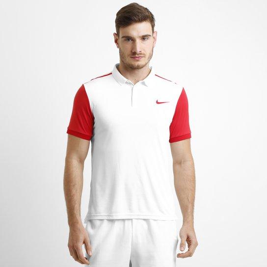 Camisa Polo Nike Advantage - Branco+Vermelho 386b7f233026d