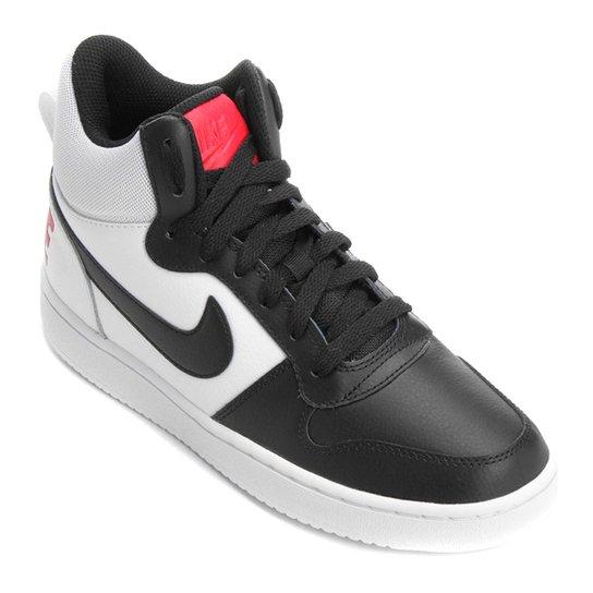 Tênis Couro Cano Alto Nike Recreation Mid Feminino - Branco+Vermelho 246df337aaedf