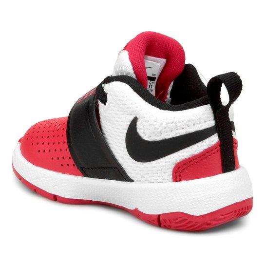 d5bc6a4146b ... Tênis Infantil Couro Nike Team Hustle D Masculino - Branco+Vermelho ...