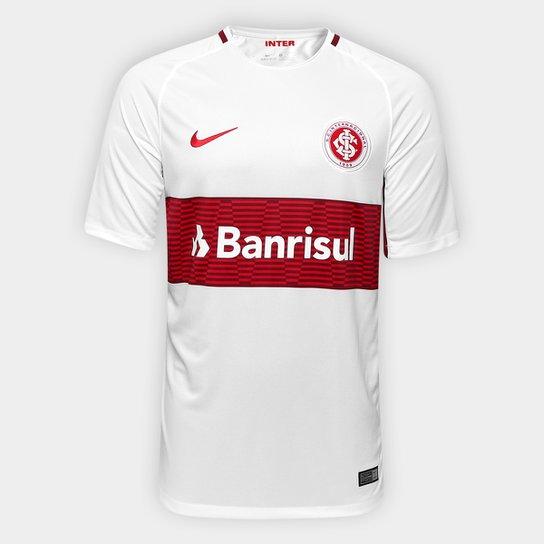 dfc0f7c457 Camisa Internacional II 17/18 s/nº Torcedor Nike Masculina - Branco+Vinho