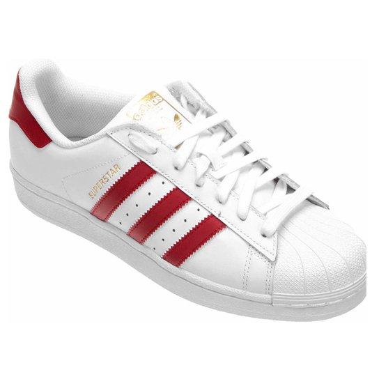 Tênis Couro Adidas Superstar Foundation Masculino - Compre Agora ... 9c527b711d538