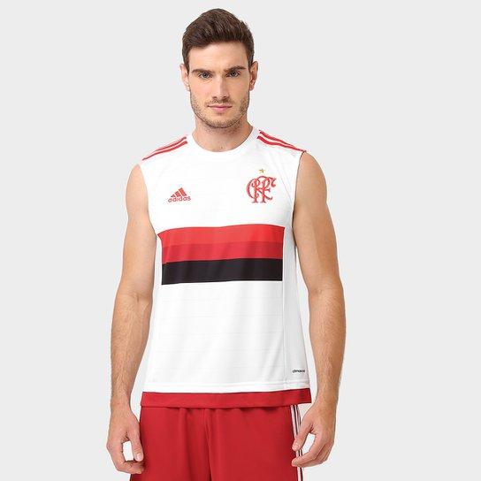 Camiseta Regata Adidas Flamengo - Branco+Vermelho 0f9cc43827f3b