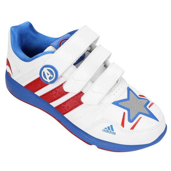 a13f6321e95 Tênis Adidas Disney Vingadores Capitão América Infantil - Branco+Azul