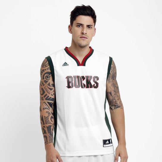 1bf6dd0ef Camiseta Regata NBA Adidas Bucks Home - Compre Agora