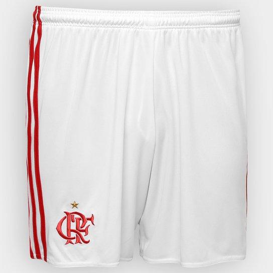Calção Flamengo 2016 Adidas Masculino - Branco+Vermelho ... 059ff33728d24