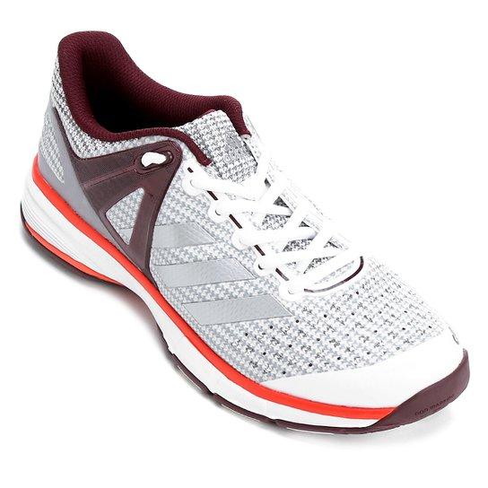 44f259c3851 Tênis Adidas Court Stabil - Branco e Vinho - Compre Agora