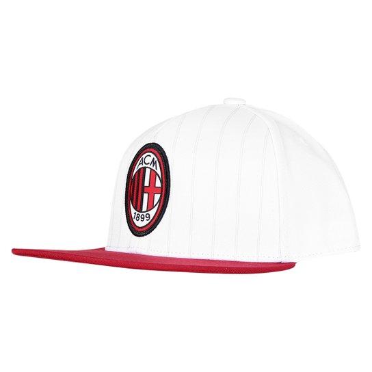 Boné Adidas Aba Reta Milan - Branco+Vermelho 240fa882aee