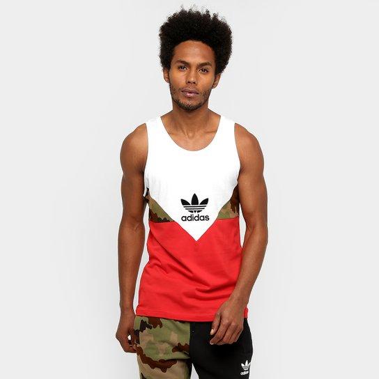 Camiseta Regata Adidas Originals Es Crdo July - Branco+Vermelho 1909590c8f5