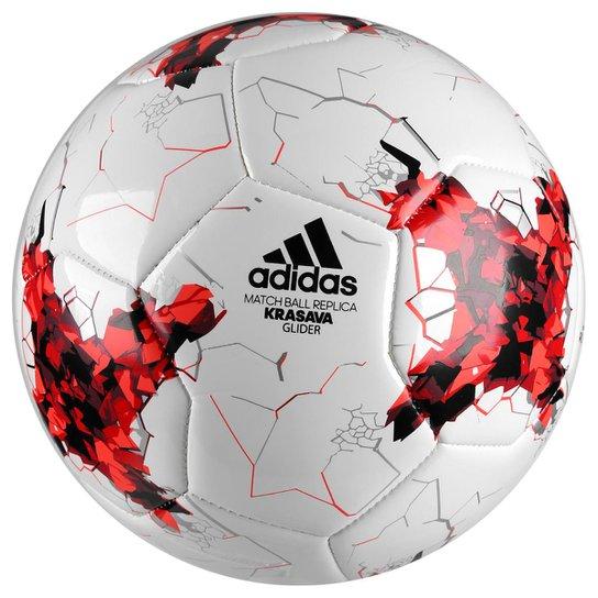 Bola Futebol Campo Adidas Krasava Copa das Confederações 2017 Glider -  Branco+Vermelho 5ef09ecc6d646