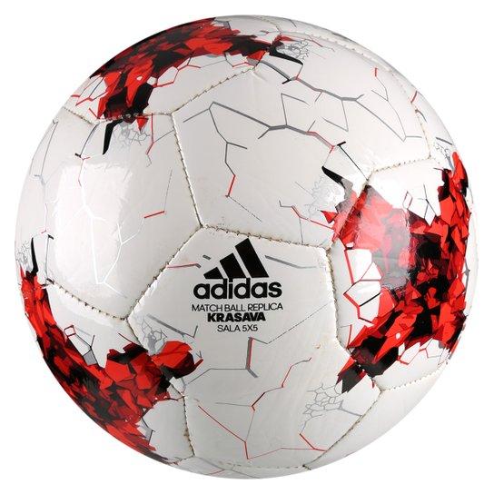 Bola Futsal Adidas Krasava Copa das Confederações 2017 Sala 5x5 -  Branco+Vermelho a7a59561b462e