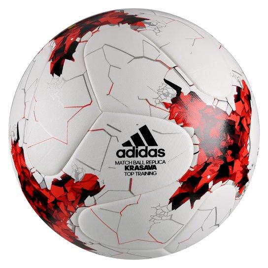 Bola Futebol Campo Adidas Krasava Copa das Confederações Top Réplica -  Branco+Vermelho 94589074a540c