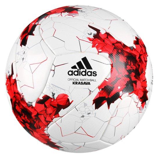 Bola Futebol Campo Adidas Krasava Oficial da Copa das Confederações 2017 -  Branco+Vermelho ab4dea411fe5d