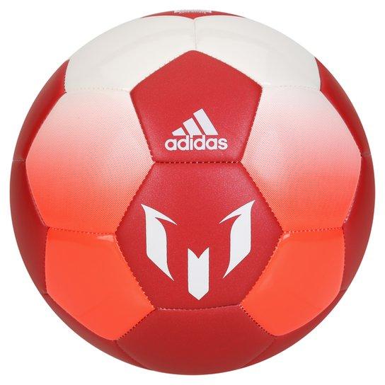 89f9f8c96938d Bola Futebol Campo Adidas Messi Q1 - Branco+Vermelho