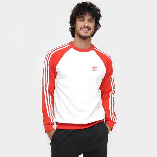 fdb7963271 Moletom Adidas SST - Branco+Vermelho
