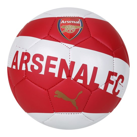 3e8e77d741690 Mini Bola Arsenal Puma Fan - Branco+Vermelho