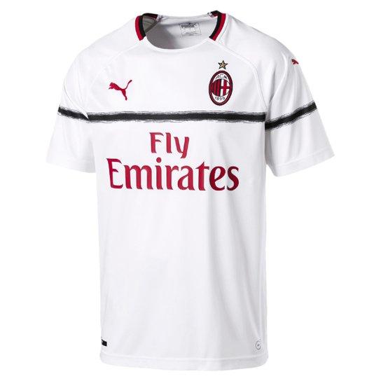 9cb2a9c0a8788 Camisa Milan Away 2018 s n° - Torcedor Puma Masculina - Branco+Vermelho