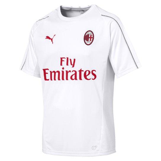 Compre Camisa Puma Vermelha Netshoes bdef1608829472  Camisa Treino Milan 18  19 s nº Puma Masculina - Branco - Compre . fbdf200683abf