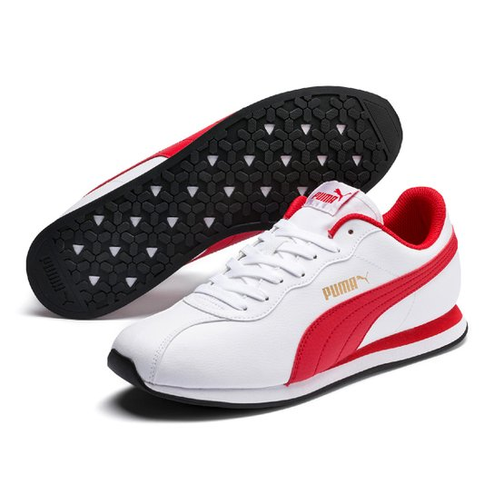 b4116df2e1c Tênis Puma Turin II - Branco e Vermelho - Compre Agora