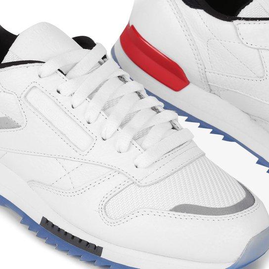 7e6163ce90b09 Tênis Reebok Cl Leather Ripple Low Masculino - Branco+Vermelho