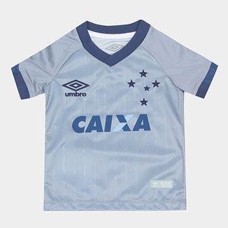 8458cc0f3c6be Camisa Cruzeiro Infantil III 18 19 s n° - Torcedor Umbro