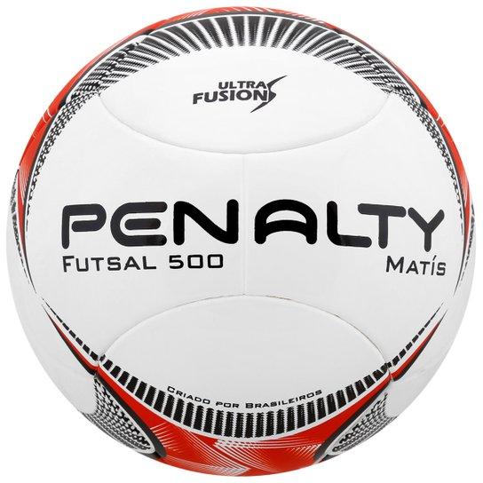 Bola Penalty Matis 500 Ultra Fusion 5 Futsal - Branco+Vermelho c837668ec3ef3