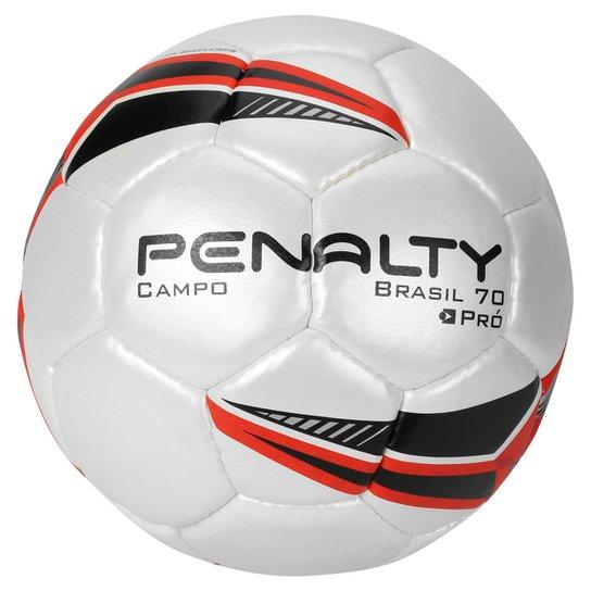 Bola Futebol Penalty Brasil 70 Pro 5 Campo - Branco+Vermelho 1c9ac59288636