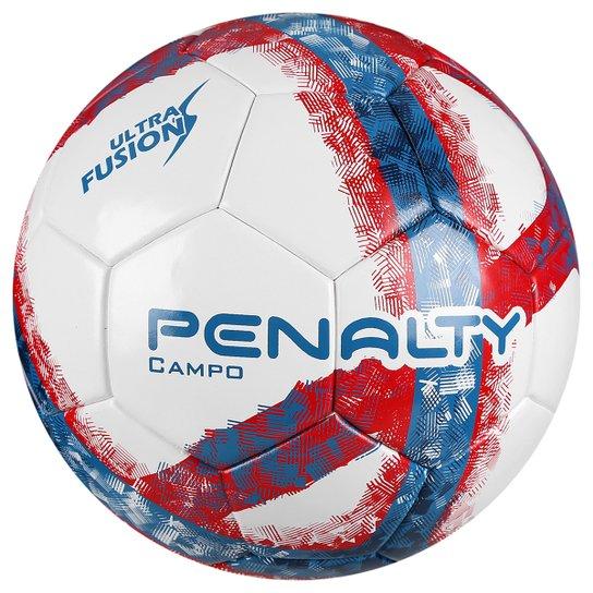 74e594886c Bola Futebol Campo Penalty Ultra Fusion 6 - Branco+Vermelho