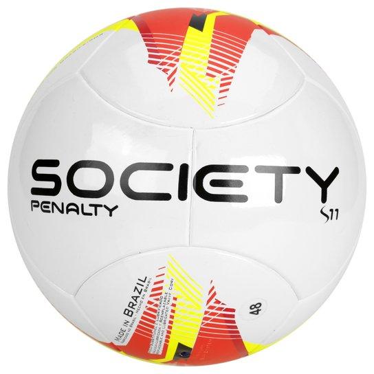 Bola Futebol Penalty S11 R3 Ultrafusion 5 Society - Branco+Vermelho ... 5b1ebb1818d4c