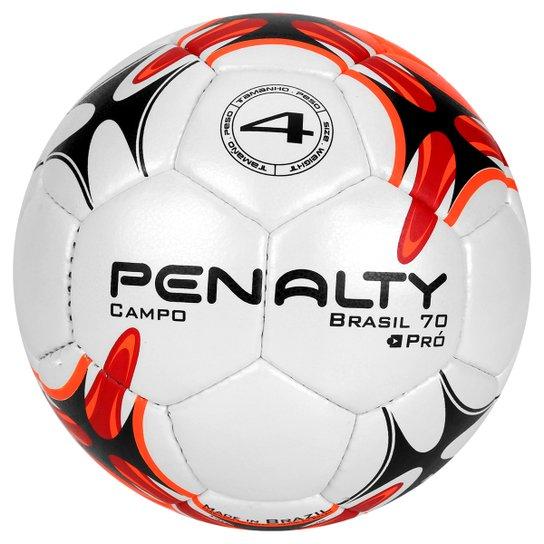 7c4823982a Bola Futebol Campo Penalty Brasil 70 N4 7 - Branco e Vermelho ...
