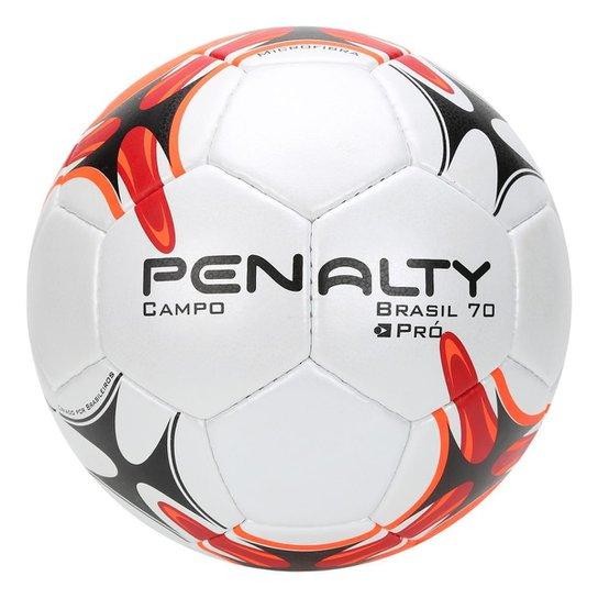 Bola Futebol Campo Penalty Brasil 70 VII - Branco e Laranja - Compre ... 77c0c8ede4b6c