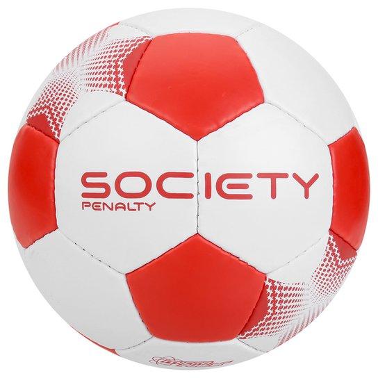 27c087133 Bola Futebol Society Penalty Player 7 - Branco e Vermelho