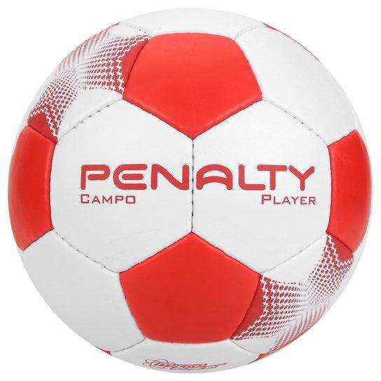 0f96ecdb61354 Bola Futebol Campo Penalty Player 7 - Branco+Vermelho