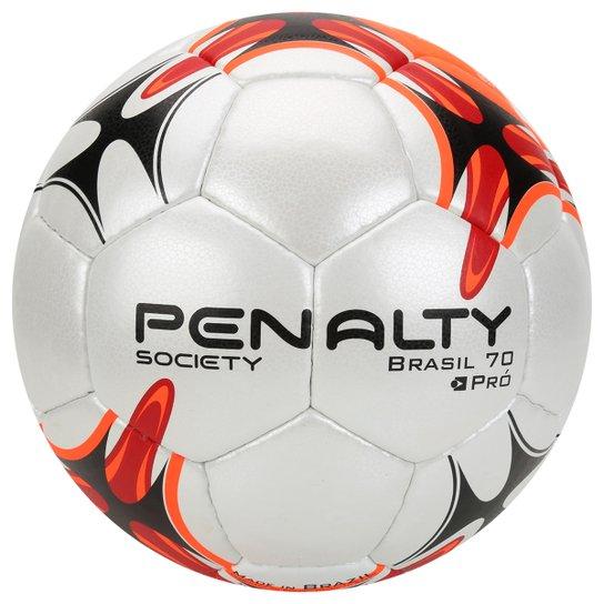 c7772b236b Bola Futebol Society Penalty Brasil 70 Pró 7 - Branco+Vermelho