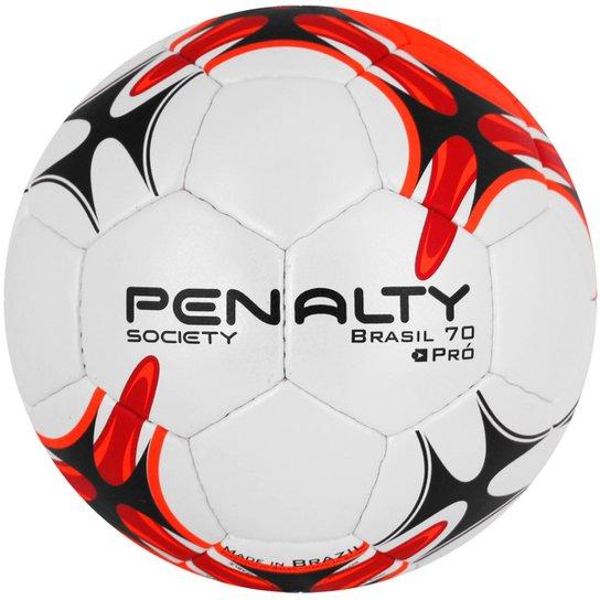 Bola Penalty Society Brasil 70 Pró VII - Branco+Vermelho f97bd024f3666