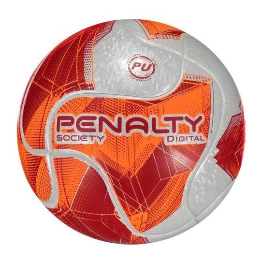 Bola Penalty Society Digital Term VII - Branco+Vermelho 47420f14636e0