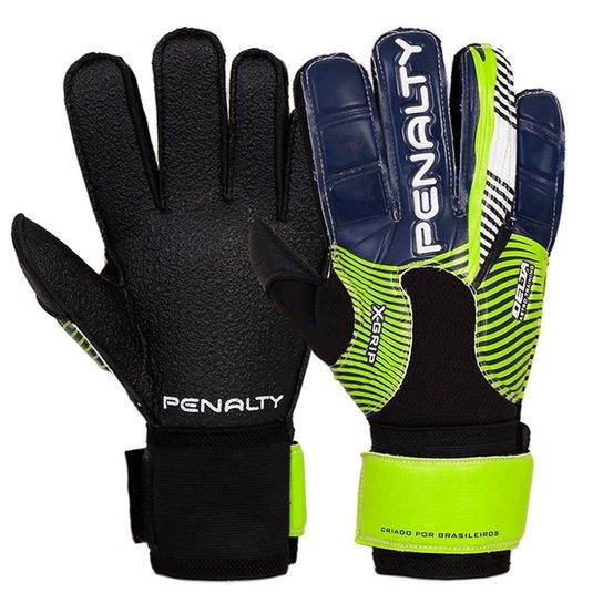 Luva Penalty Futebol Delta Astro Training VI - Preto+Verde Claro f99f92a41d1a1