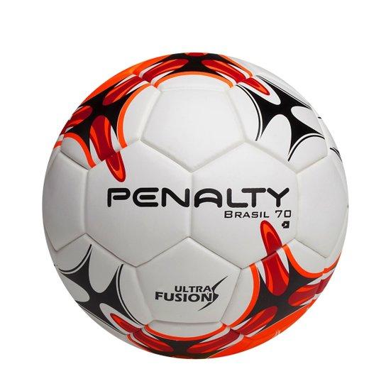 Mini Bola Futebol Brasil 70 - Penalty - Branco+Vermelho f01a8467e5381