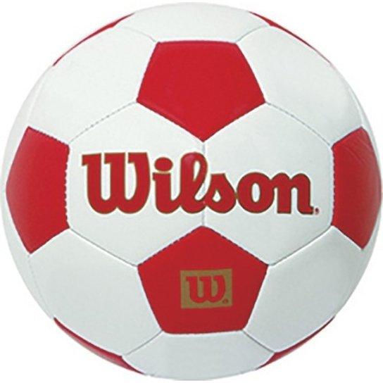 Bola de Futebol Tradicional Mini  1 - Wilson - Branco+Vermelho c6ddcff704e41