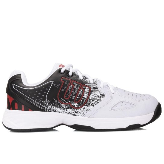 4e40f1d7ffb Tênis Wilson K Classic Masculino - Branco e Vermelho - Compre Agora ...